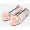 Il Gufo pink ballerinas with 3D Flower in pink