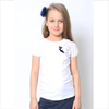 Il Gufo White T-Shirt with Rosette