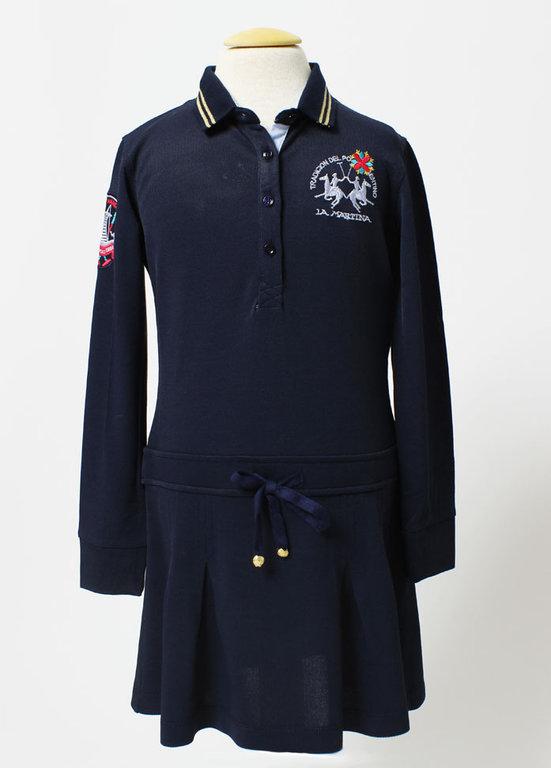 b7833eac2e68b La Martina Girls navy Polo Dress - High quality fashion for kids