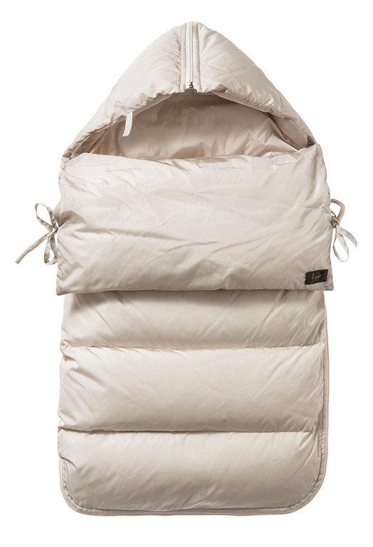 il gufo daunen schlafsack f r babys in beige exklusive. Black Bedroom Furniture Sets. Home Design Ideas