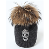 Joli Bebe Grey Wool Knitted Pom-Pom Hat