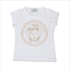 Young Versace Girls White Medusa Top