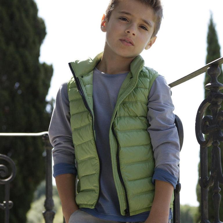 eddie pen boys green down padded sleeveless jacket markus. Black Bedroom Furniture Sets. Home Design Ideas
