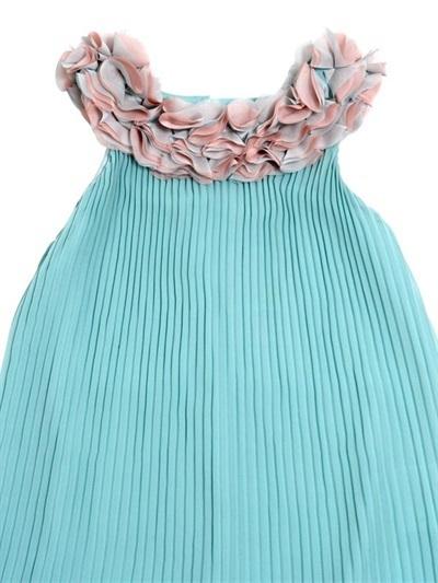 Miss blumarine plissee kleid exklusive designermode und markenschuhe f r kinder - Plissee kleid lang ...