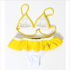 Miss Blumarine Girls White and Yellow Bikini