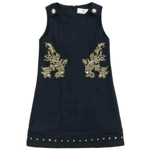 522d464bb Young Versace Girls Black Dress - High quality fashion for kids