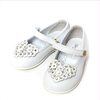 Blumarine Baby Girls White Leather Shoes