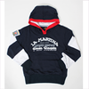 La Martina Boys Blue Jersey Hooded Top