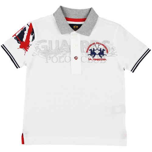 "319ac8bf52926 La Martina Jungen Poloshirt ""Polo Club"" weiß - Exklusive ..."