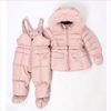ADD Pink Down Padded Jacket & Salopettes   •