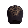 Young Versace Girls Black Merino Wool Medusa Hat