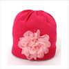 Catya Girls Pink Fine Knit Hat with Flower