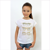 ELSY Girls Ivory Jewelled Glasses T-Shirt