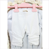 "ELSY Baby geraffte Leggings ""Svera"" off white"