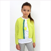 Il Gufo Cardigan/Strickjacke yellow/green