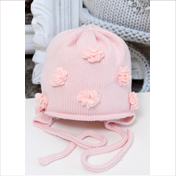 Catya Baby Pale Pink Hat with 3D Flowers - High quality fashion for kids c4eed650fd9