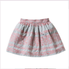 Il Gufo Girls Light Grey Skirt With Sugar Pink Topstitching