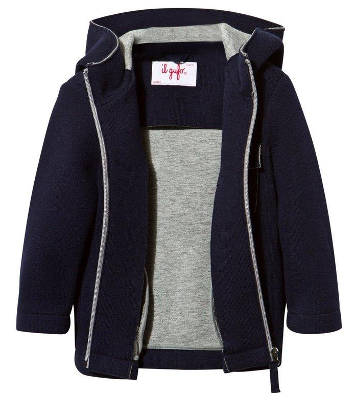 Il Gufo Boys Navy Wool Hooded Duffle Coat - High quality fashion ...