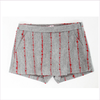 Il Gufo Girls Grey Wool Shorts with Boucle Stripes