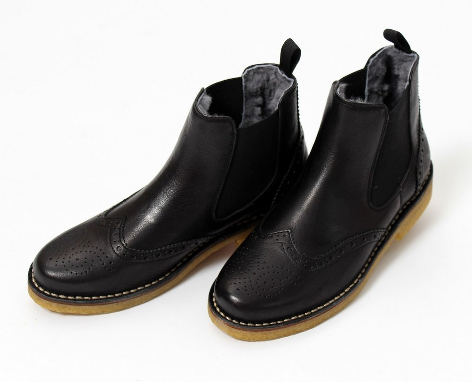 huge selection of 82459 f835a Zecchino d`Oro Chelsea Boots Budapester Lammfell/Leder ...