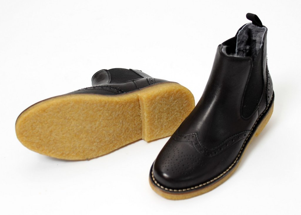 online store 7932b 1afef Zecchino d`Oro Girls Black Leather Chelsea Boots - High ...