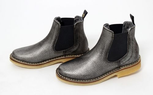 brand new 2d004 7894f Zecchino d`Oro Girls Silver Leather Chelsea Boots - High ...
